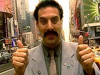 Borat giving the thumbs-up